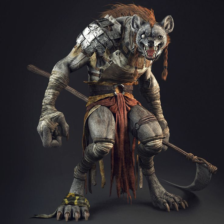 http://dsgarcia.cgsociety.org/art/3d-character-modeling-gnoll-creatures-1246419