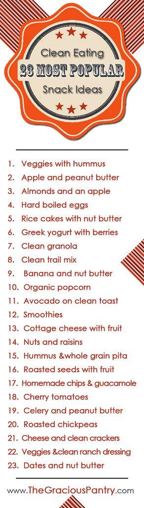 23 Clean Eating Snack Ideas #healthy #snackattack