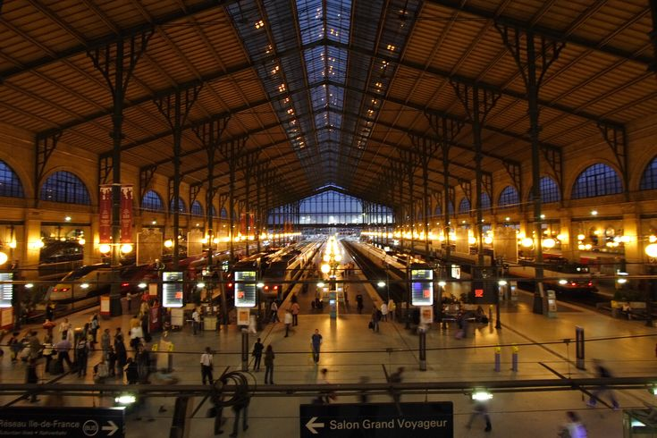 The Gard du Nord, Paris:  This train station is the busiest in Europe.