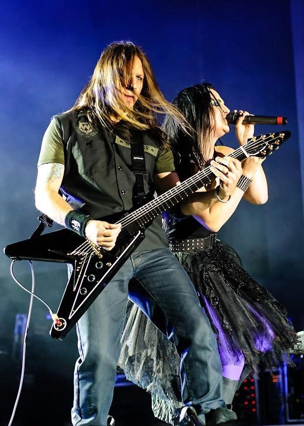 Evanescence is an American rock band founded in Little Rock, Arkansas in 1995 by singer/pianist Amy Lee and guitarist Ben Moody. Critics vary in terming Evanescence a rock or metal band, but most identify them as some form of gothic band.