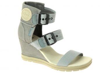 Chaussures compensées en cuir et textile, prix: 79,00 € http://www.chausty.com/pldm-by-palladium-nu-pieds-style-ville-chaussures-femme-gris/a35884/