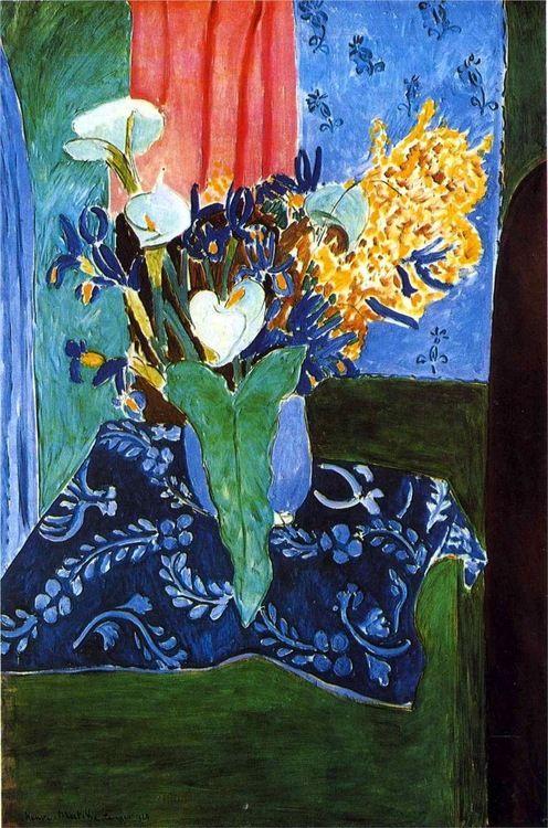 Henri Matisse, 1913, Calla Lilies, Irises and Mimosas