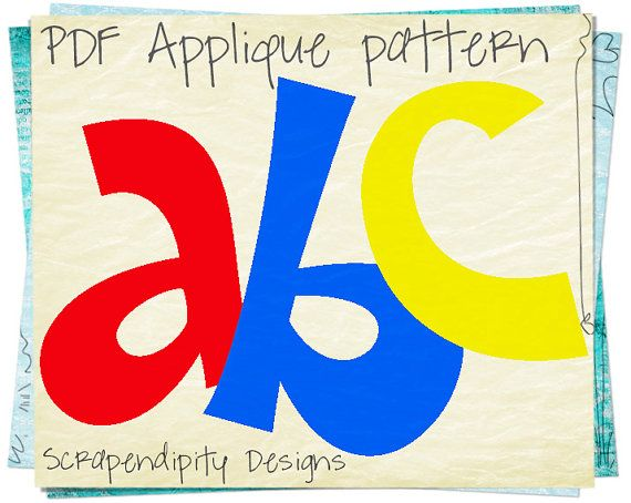 Free Applique Patterns Download | Alphabet Applique Pattern - Letters Applique Template / Kids Girls ...