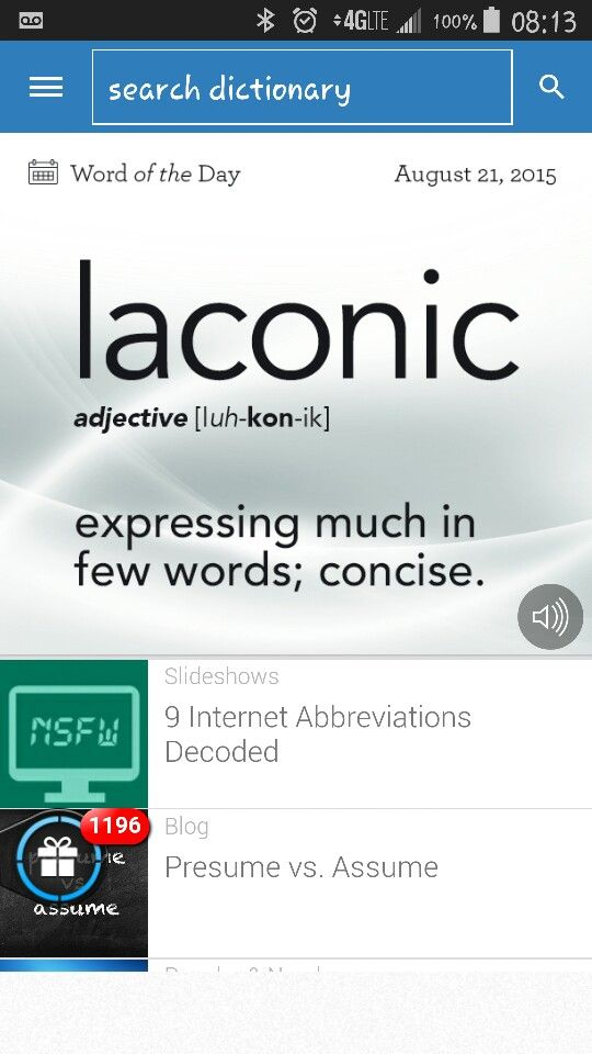 Laconic Words Pinterest - presume vs assume