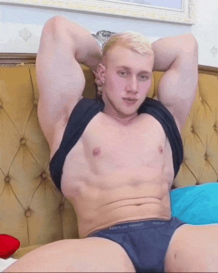 Shirtless Latin Hunk BEAUTIFUL Muscular Semi-Hairy Chest