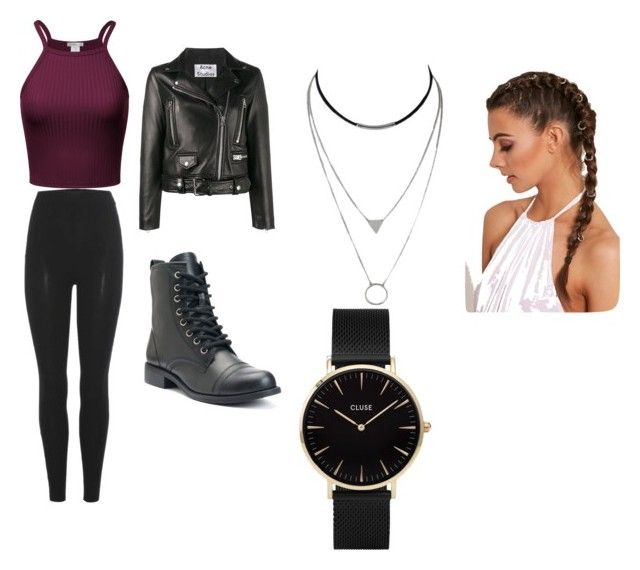 """Outfit fo life"" by nylaalvarez ❤ liked on Polyvore featuring adidas Originals, Acne Studios and CLUSE"