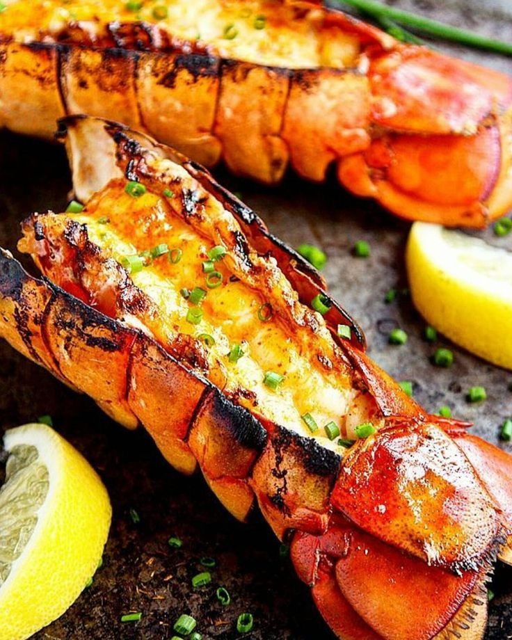 Lemon-sriracha lobster tails grilled over a livefire inferno of hardwoods then dressed in a gorgeous browned butter & a garden of freshly chopped herbs.  Courtesy: A Farm Girl Dabbles | @afarmgirldabbles . . . . . Blog: http://ift.tt/1vCV6pv  #chef #seafood #surfandturf #pescatarian #paleo #crab #lobster  #cajun #recipe #spicy #instagood #foodstagram #foodgasm #foodporn #glutenfree #beer #bbq #barbecue #grill #grilling #getinmybelly #beautifulcuisines #healthy #feedme #feedfeed #f52grams…