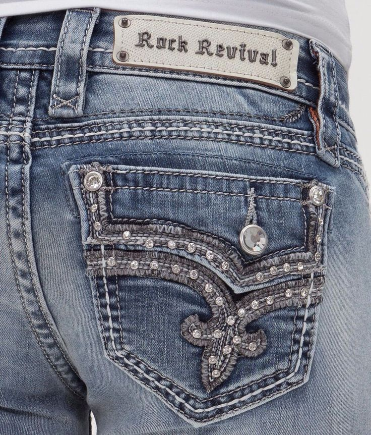 ROCK REVIVAL JEANS SALE Buckle Low Betty Faux Flap Bootcut Stretch Jean 27 X 31 #RockRevival #BootCut