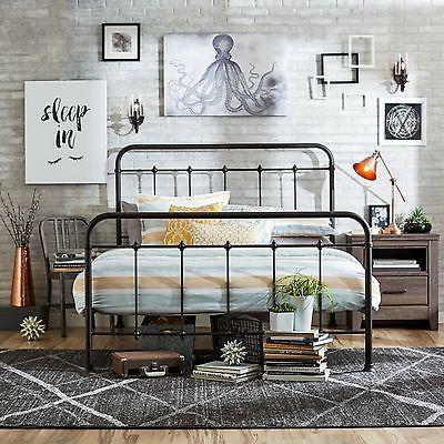Best Queen Size Bed Frame Metal Headboard Footboard Adjustable 400 x 300