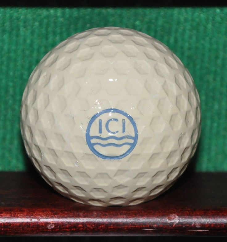 Vintage Imperial Chemical Industries ICI Logo Golf Ball. Uniroyal Hex Dimples