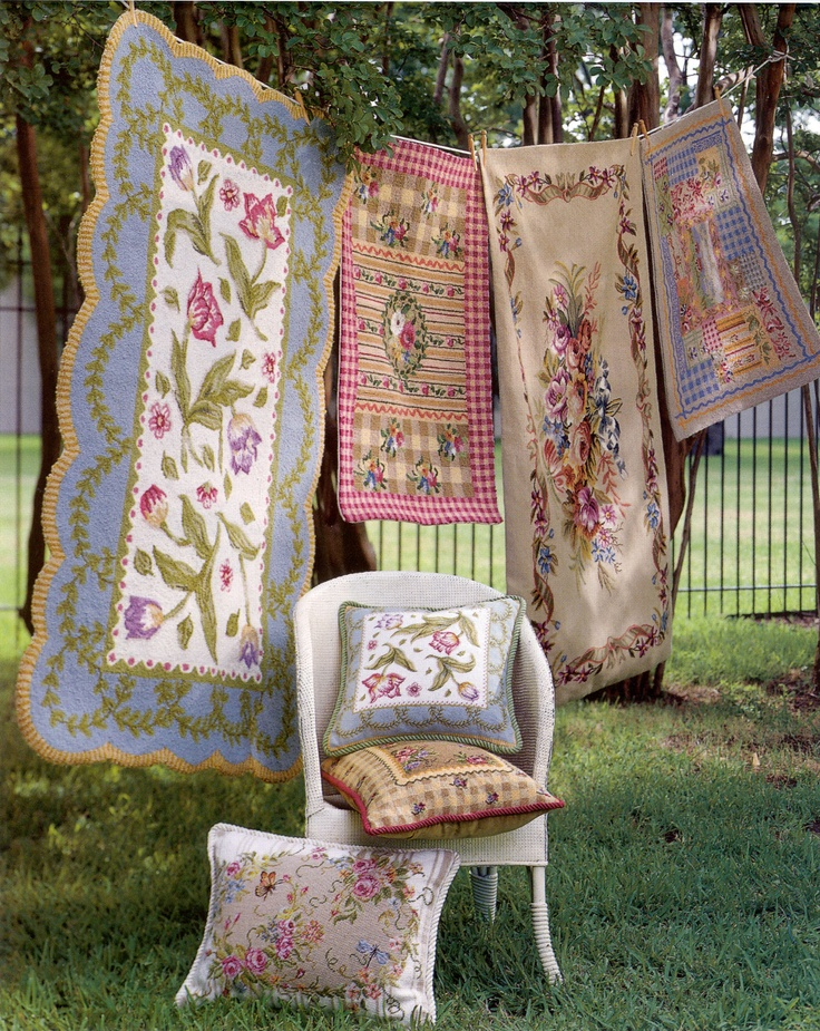 Hand Hooked U0026 Needlepoint Rugs The Tulip Rug Is By Suzanne Nicholle, And The