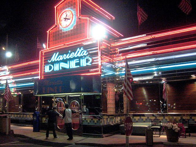 Marietta Diner. This diner was featured on Diners Drive Ins and Dives, eat there when driving through, in Marietta, Georgia