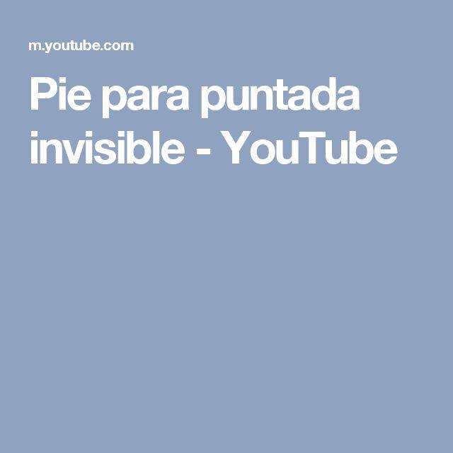 Pie para puntada invisible - YouTube
