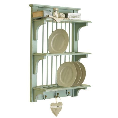 country kitchen plate rack vintage blue wall rack a quality wooden 6122
