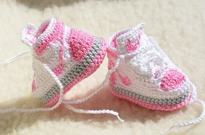 Nike Air Jordan 1 Crochet botitas de bebé