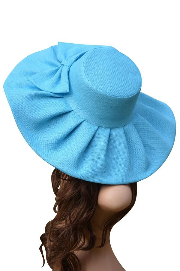 44f780299b7 ... Belle of a hat made of linen and lovely big bow is for the beach