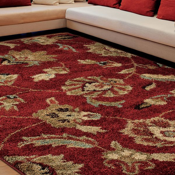 Euphoria Collection Irving Traditional Red Olefin Rug (5u00273 X ...