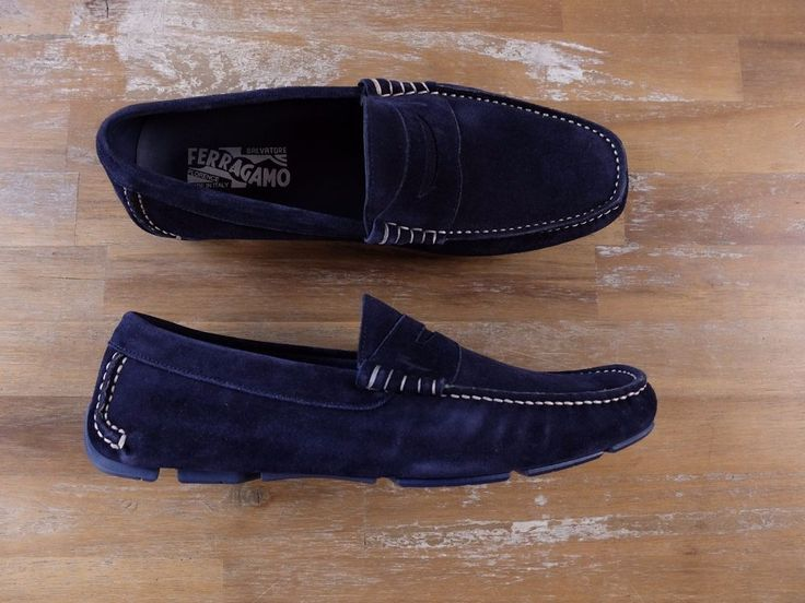 The Ferragamo size is 7 EEE, which equal to 7 US and 40 EU (size conversion made according to the size chart on Ferragamo website). Color: Blue Marin. Outsole measurements.   eBay!