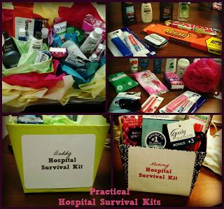 Practical hospital survival kits for mom & dad