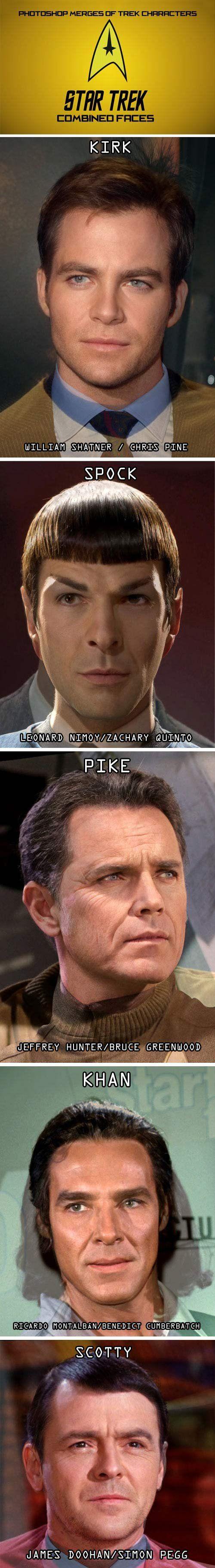 Star Trek actors past and present combined…