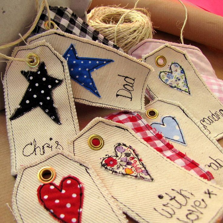 personalised hearts and stars tag by sew very english | notonthehighstreet.com