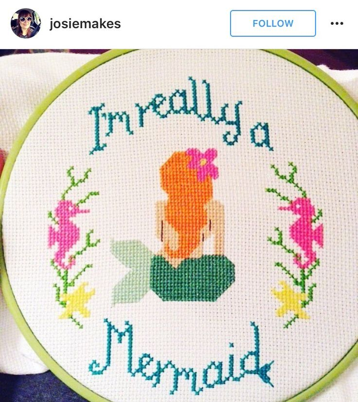 I'm Really a Mermaid cross-stitch More