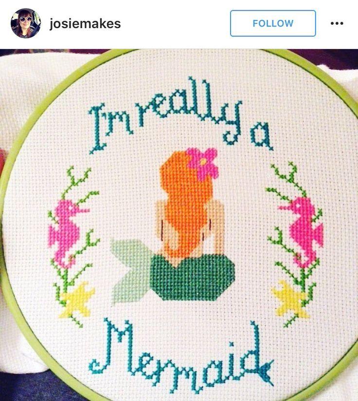 I'm Really a Mermaid cross-stitch