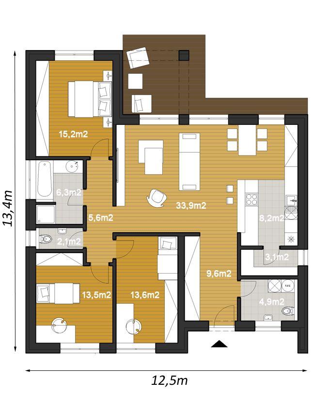 projekt rodinneho domu ELKO110