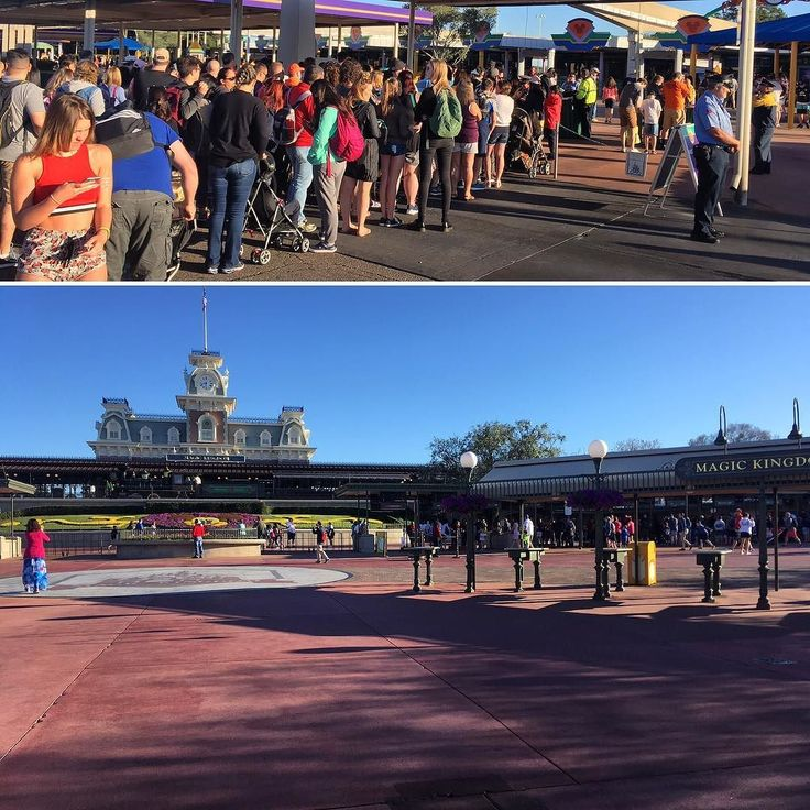 Lines for security at the Ticket and Transportation Center mean a wide open entrance to Magic Kingdom. Photos by Quinn Roseboom/Attractions Magazine #magickingdom #disney #wdw #disneyworld #security #metaldetecting #themepark #crowd #twitter