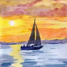 Aquarelle coucher de soleil - Recherche Google