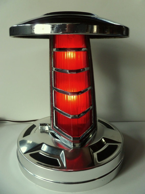 446 best lampsshades images on pinterest good ideas night lamps vintage chrome car parts table lamp aloadofball Images