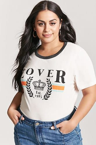 584bf0736379e Plus Size Lover Graphic Tee