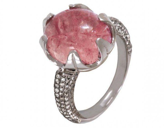 Jessica Surloff, Pink Tourmaline ring