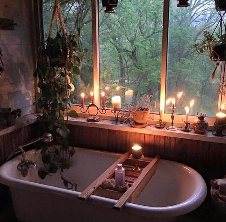 If I had a cabin in the woods (with running water) ...and a sunporch-it would become a bathing area.