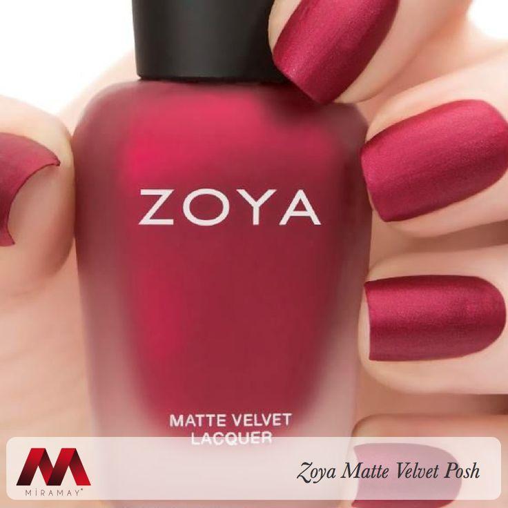 Kırmızı tutkunları için Zoya Matte Velvet Posh!