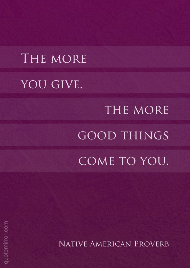 The more you give, the more good things come to you.  – #effect #generosity http://quotemirror.com/s/60kzh