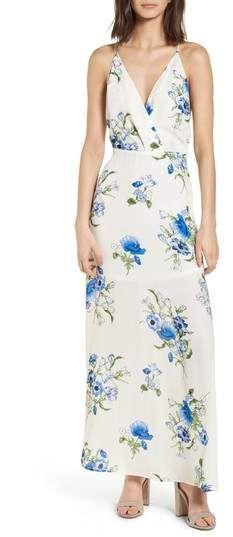 lush surplice maxi dress white summer cool stunning dress