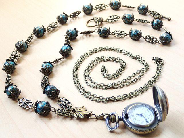 懐中時計のネックレス【アンティークテイスト】