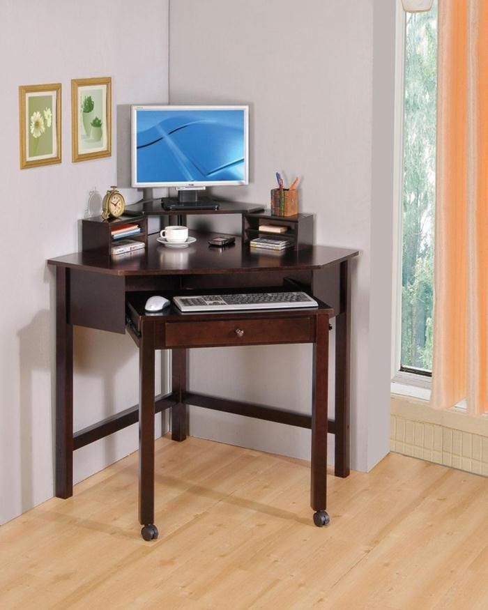 Unique and small corner desks for home office - #HomeOffice decorations ideas