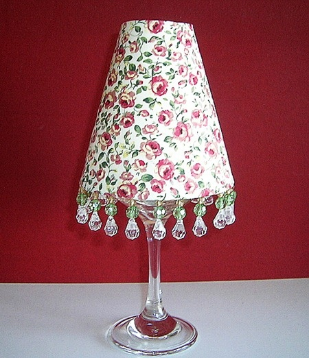 50+ ideas for making the Wine Glass Lampshades