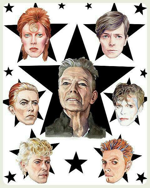 David bowie Blackstar pop art .
