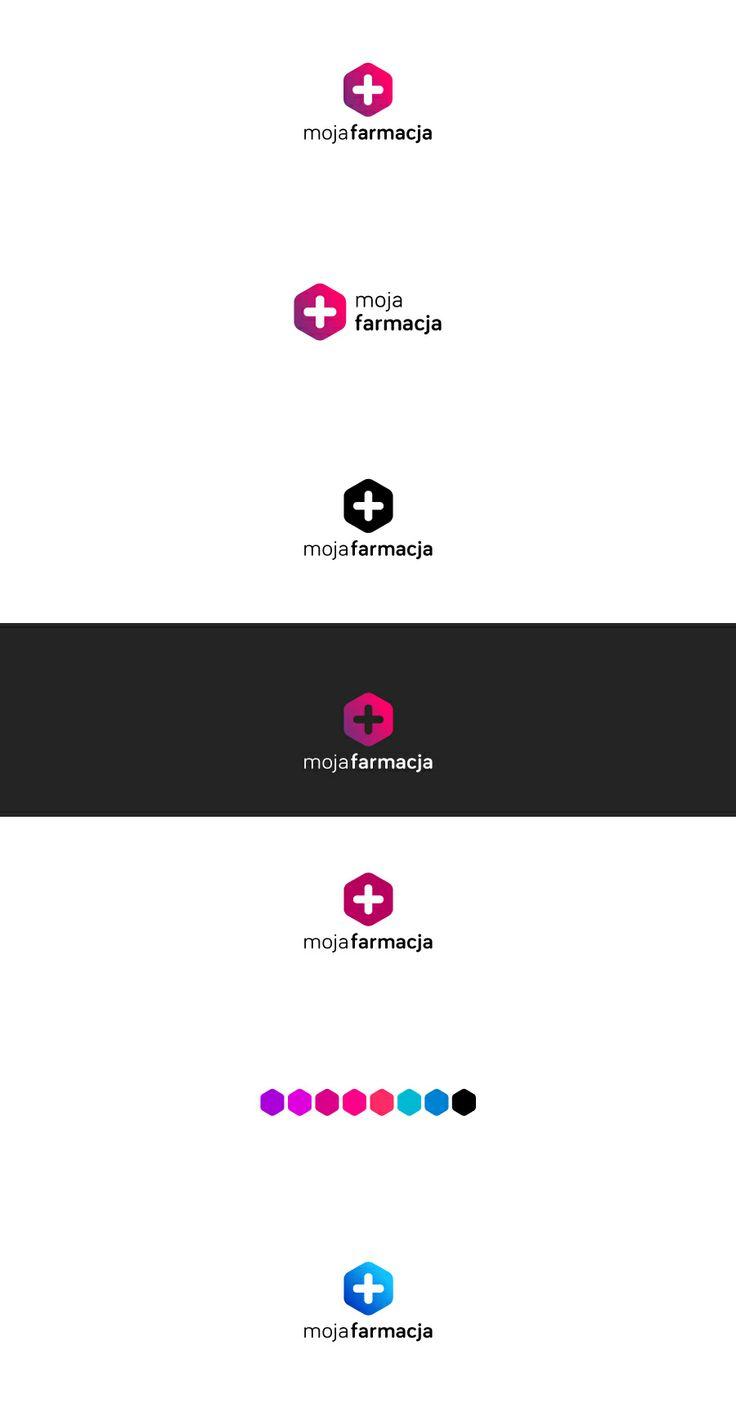 Variants of logotype for Grupa Moja Farmacja. #logo #logotype #id #identity #design #synkro #synkrointeractive #carbone #mojafarmacja #grupamojafarmacja #lodzdesign #lodz