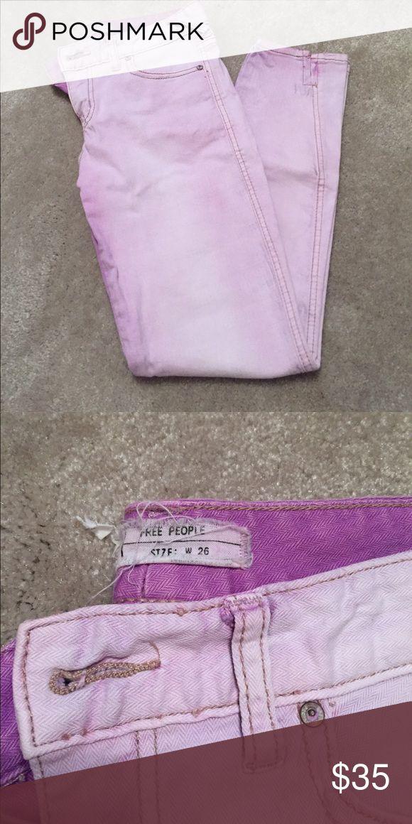 Free People Lavender Jeans Free people lavender cropped jeans. Size 26. Free People Pants Skinny