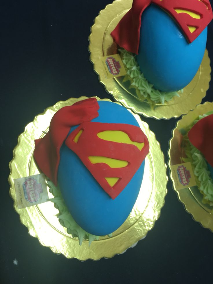 Chocolate Easter egg superman!