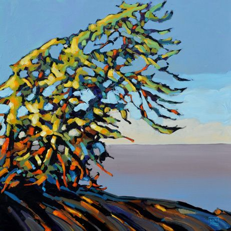 Canadian Landscape , Painting by Jerzy Werbel, www.werbeland.ca