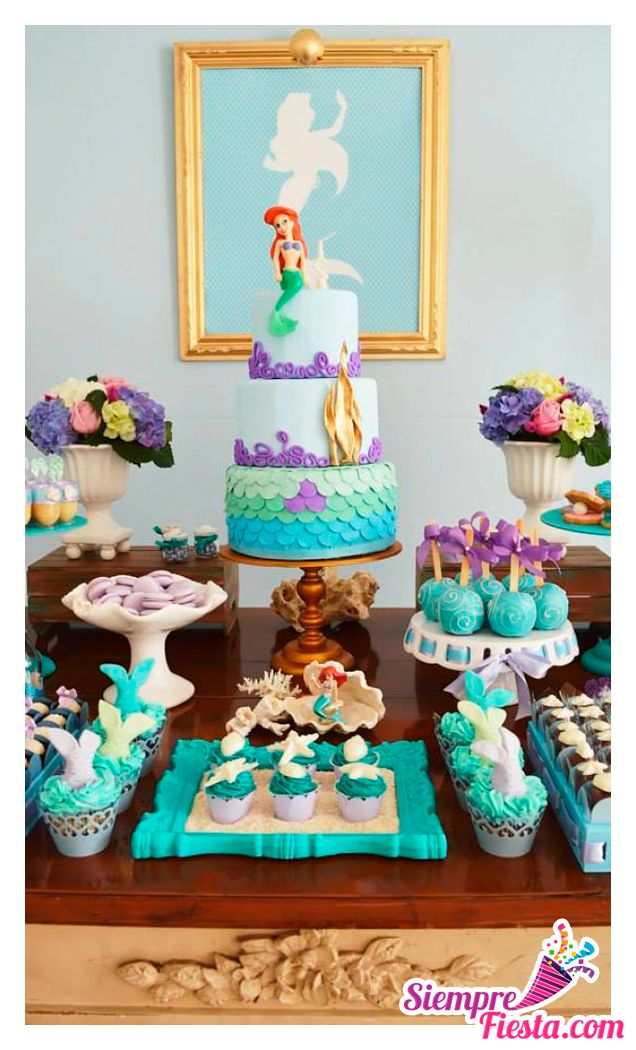 37 best fiesta de la sirenita images on pinterest - Ideas para cumpleanos infantiles ...