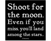 Take aim and fire - Shoot for the Moon. Even if you miss you'll land among the stars.