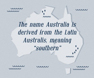 The origin of Australia's name