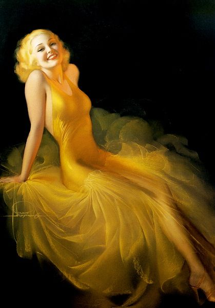 Rolf Armstrong Pin Up.                                                       …                                                                                                                                                     Plus