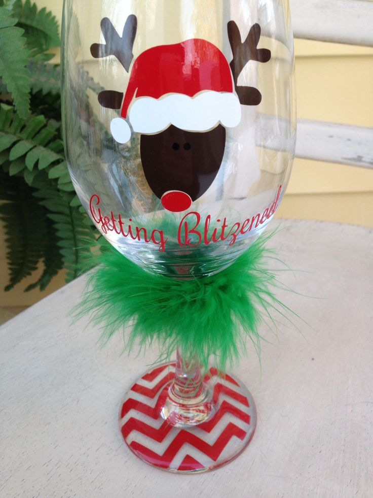 Holiday wine glass, Christmas wine glass, getting blitzened, funny wine glass, unique wine glass, wine glasses, holiday gift by MonogramRevolution on Etsy https://www.etsy.com/listing/211501330/holiday-wine-glass-christmas-wine-glass